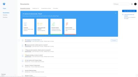 Así es Dropbox Paper, la alternativa a Google Drive para la gestión de documentos compartidos