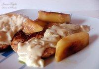 Pollo con manzanas y salsa de mostaza. Receta