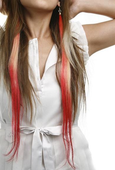 Pendientes con extensiones de pelo