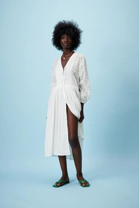 Vestido Blanco De Zara 12
