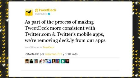 Planea la sombra de Twitter sobre Tweetdeck al deshacerse de deck.ly
