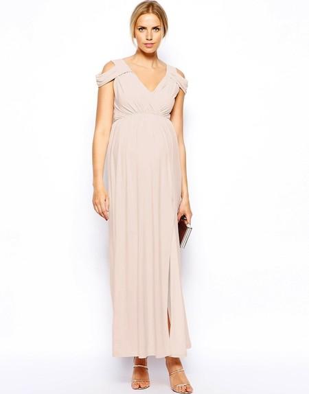 Vestido Novia Premama Rosa