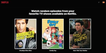 Shufflix, una web que elige un episodio aleatorio por ti en Netflix cuando no sabes qué ver