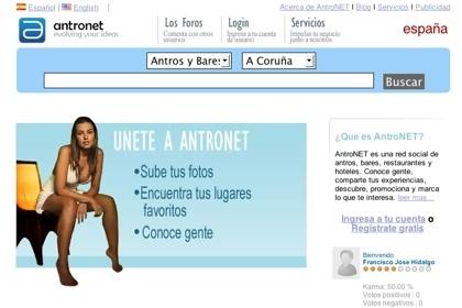 Antronet, búsquedas de locales de ocio y de personas de cualquier ciudad