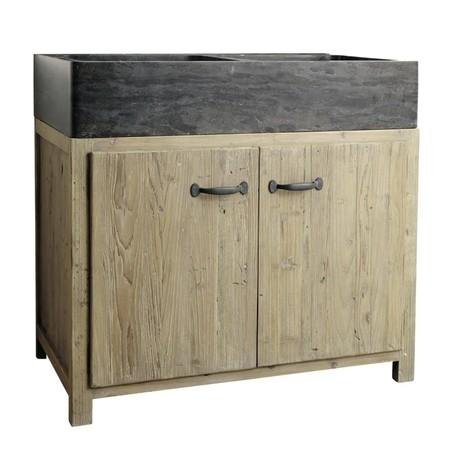 Mueble Bajo De Cocina de Pino Reciclado Con Fregadero 999 euros