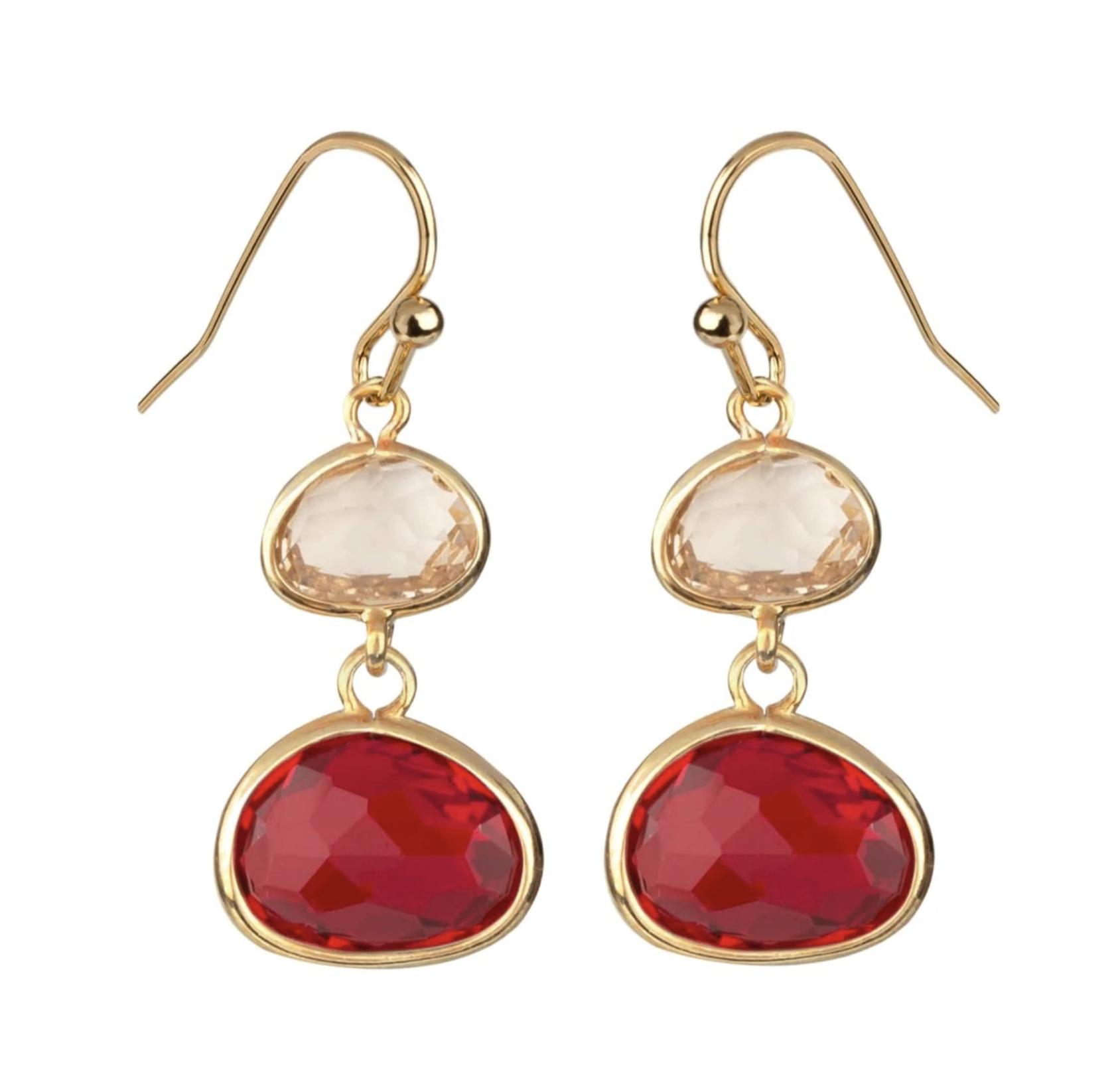 Pendientes Vidal & Vidal colección Esentials dorado gemas de colores