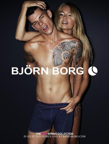 Björn Borg sigue provocando en su nueva campaña para la Primavera-Verano 2012