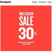 30% de descuento en Desigual durante la Mid Season Sale que finaliza este fin de semana