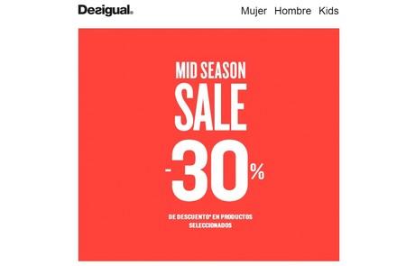 30% de descuento en Desigual durante la Mid Season Sale que