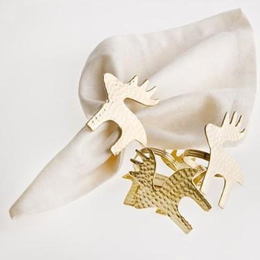 Regalos decorativos para esta Navidad: servilleteros de renos
