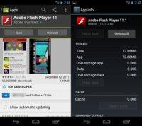 Adobe Flash Player 11 para Android con soporte para Android 4.0 Ice Cream Sandwich