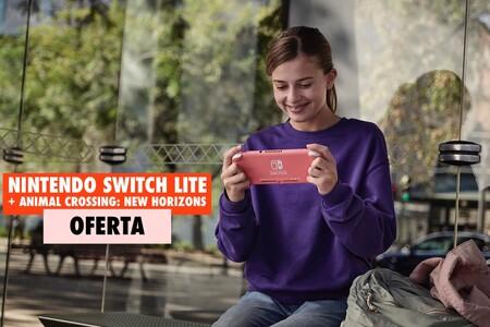 Esta Nintendo Switch Lite con Animal Crossing: New horizons es un regalazo para Navidad y hoy la tienes rebajada en el Black Friday de MediaMarkt