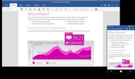 Microsoft lanza las versiones previas de Word, PowerPoint y Excel para Windows 10