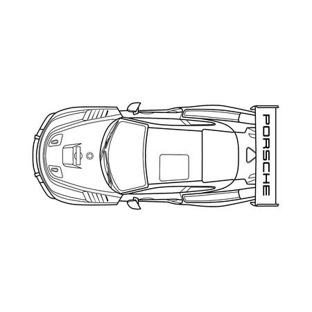 Porsche 935 colorear