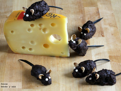 Ratones de chocolate, receta divertida para Halloween