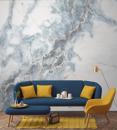 Papel pintado efecto mármol, una de las mejores tendencias de 2017