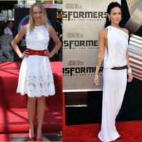 Cameron Díaz y Megan Fox dos guapas de blanco
