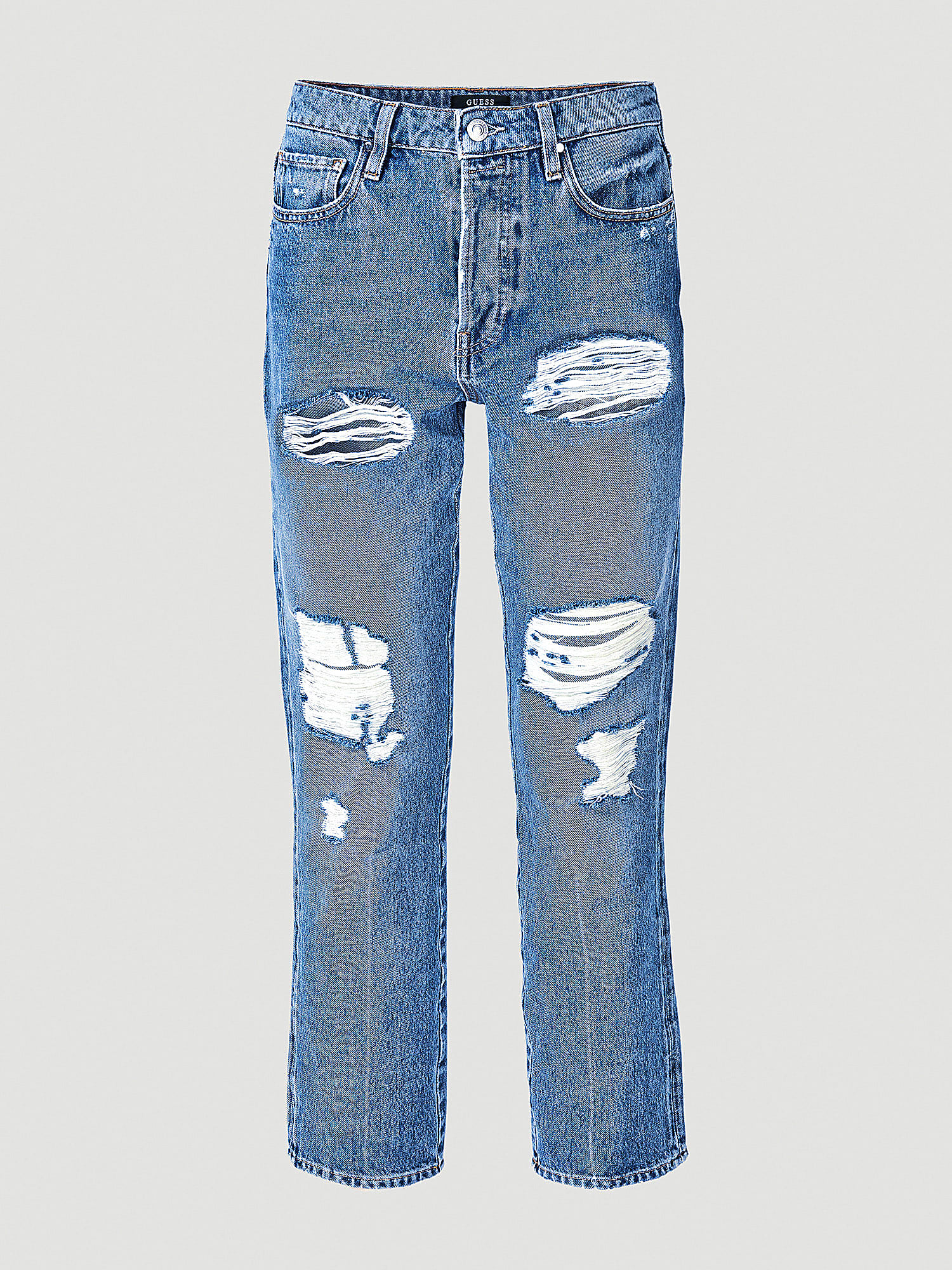 Mom jeans con rotos