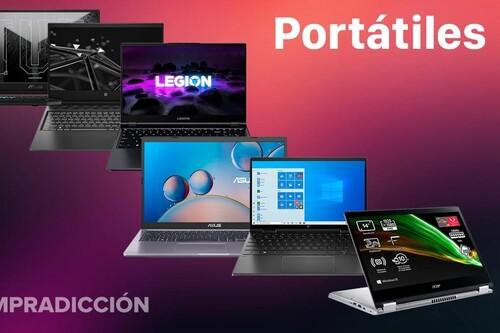 11 nuevas ofertas en portátiles gaming y de trabajo en Amazon: modelos de ASUS, Acer, HP o Lenovo a precios rebajados