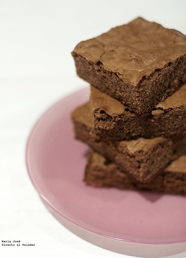 Receta de brownie de nutella