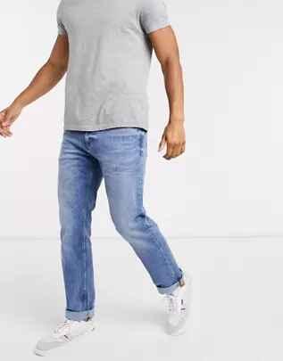 Vaqueros de corte recto en azul intenso de Calvin Klein Jeans