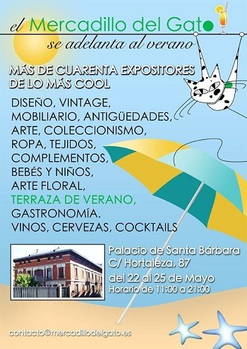 Descuentos y precios especiales en 'El Mercadillo del Gato', del 22 al 25 de mayo en Madrid
