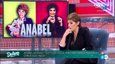 La trágica historia familiar de Anabel Alonso, al descubierto en 'Sábado Deluxe': sus dos hermanos murieron con 9 y 10 años por la misma enfermedad