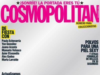 En Cosmopolitan se las dan de originales pero la portada sin portada ya la vimos antes