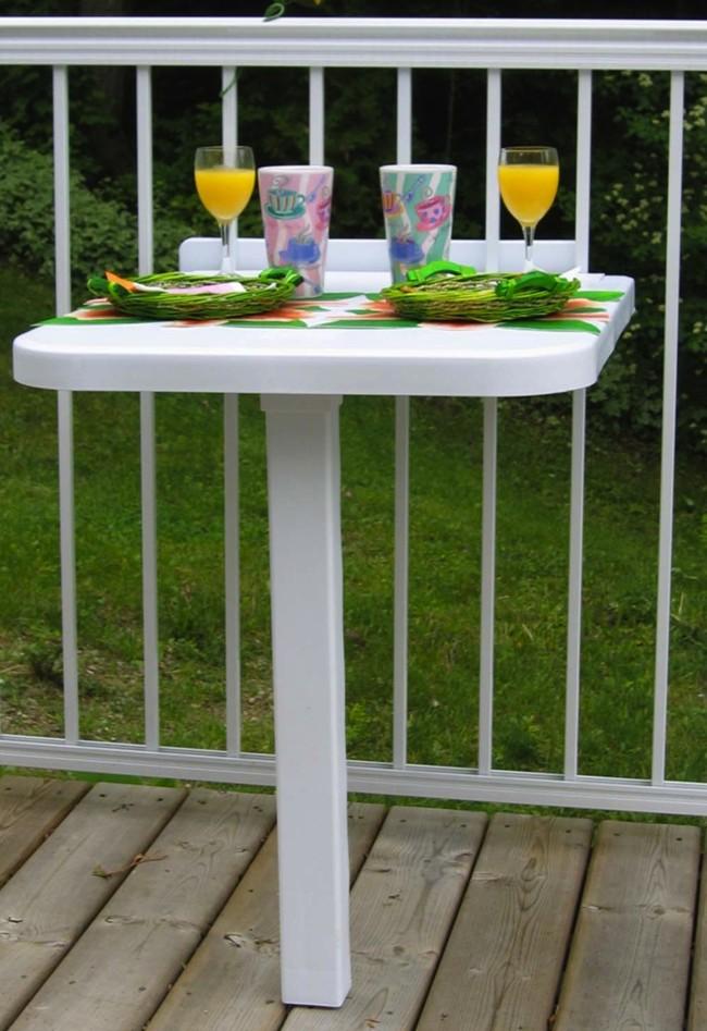 Geniales mesitas para disfrutar el desayuno en la terraza - Mesa para balcon ...