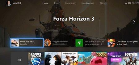 La Xbox One se pasa al Fluent Design: así es la nueva interfaz