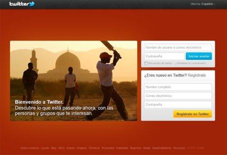 Twitter también rediseña su página principal de acceso