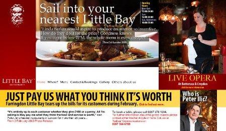 Little Bay, restaurante para comer por la voluntad