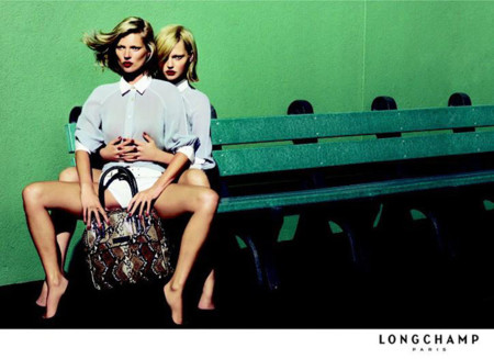 Kate Moss y Sasha Pivovarova para Lonchamp Primavera-Verano 2009
