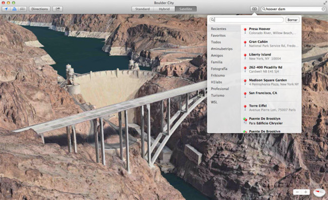 OS X Mavericks Mapas de Apple