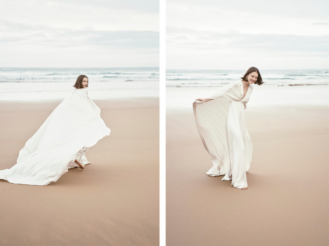 Monica Cordera Bridal Novia 2018 Vestido Blanco Capa