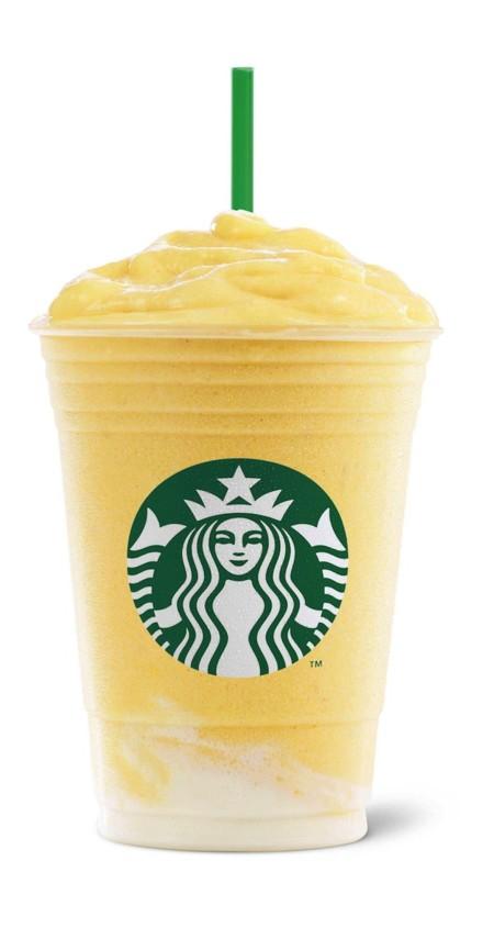Frappuccino De Yogur De Mango Y Fruta De La Pasion
