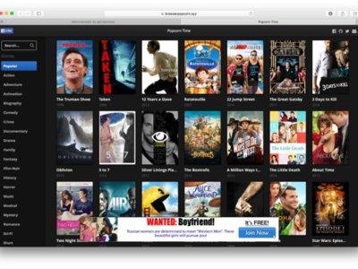 Popcorn Time ahora se puede ver desde el navegador