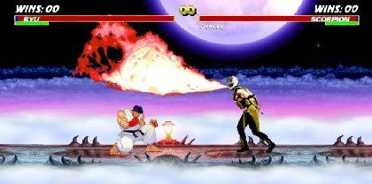 Ryu Vs. Scorpion en flash