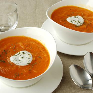 Receta de crema fría de zanahoria, fácil y saludable