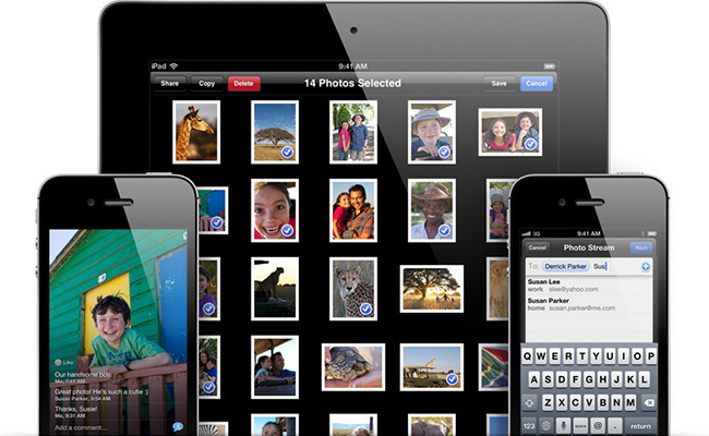 Fotos en streaming compartidas en iOS 6
