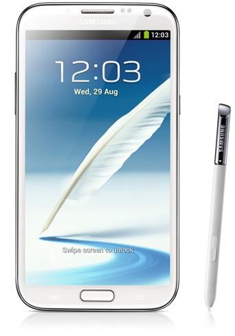 Samsung Galaxy Note II Delantera