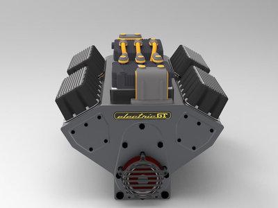 """Así es cómo se vería un motor """"V8 eléctrico"""" debajo del cofre de tu muscle car"""