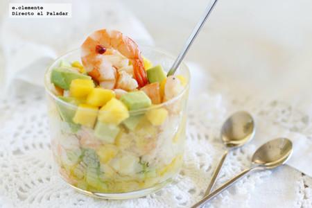 Tartar De Langostinos Mango Y Aguacate