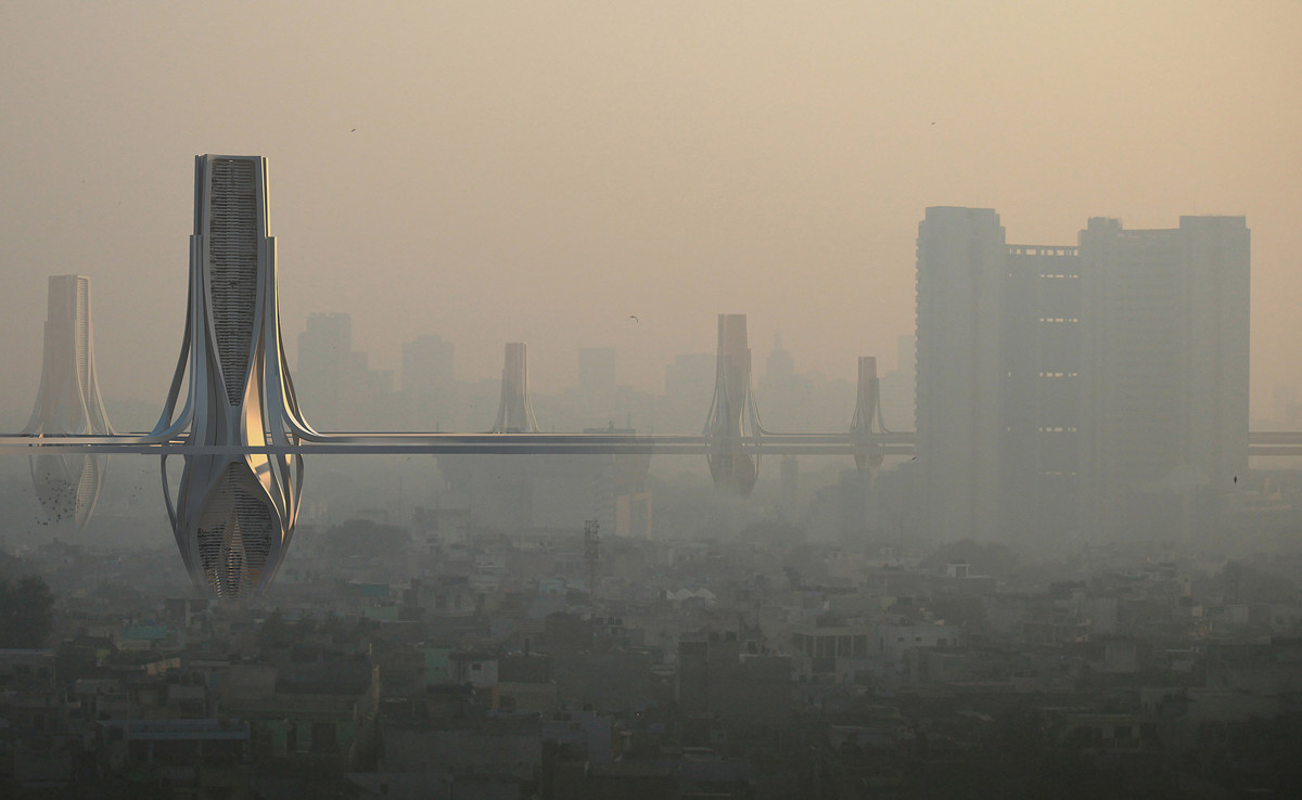 ¿Cómo salvar a Delhi de su distópica contaminación? Con filtros de aire de 100 metros de altura