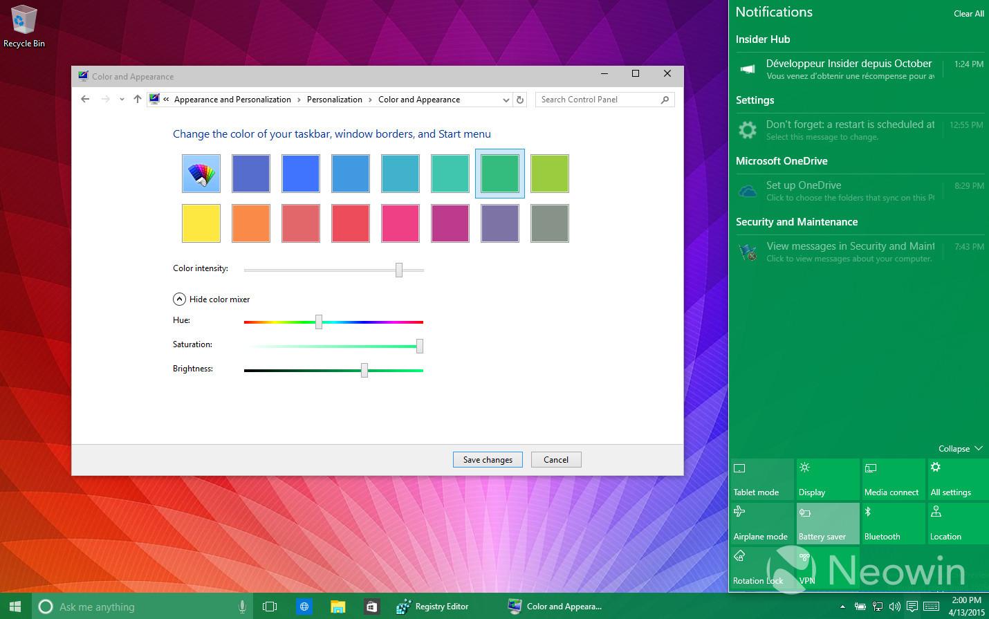 Foto de Temas de colores en Windows 10 build 10056 (6/16)