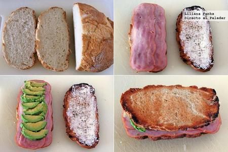 Sandwich Aguacate Pavo Pasos