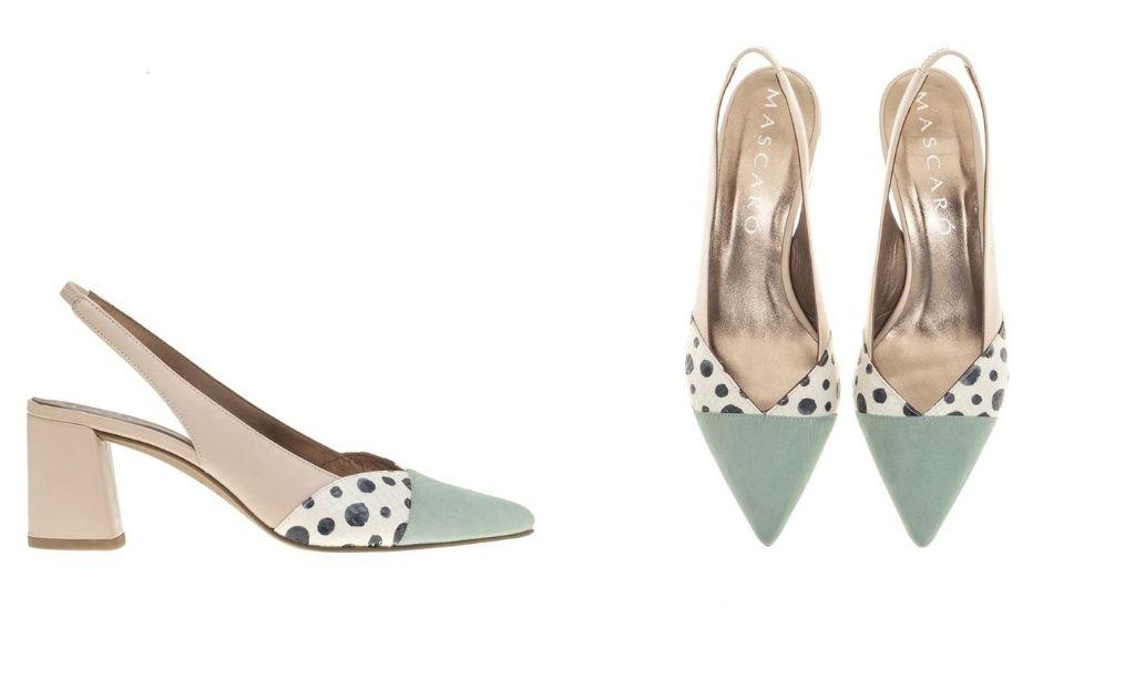 Zapatos de salón de mujer Mascaró en napa multicolor