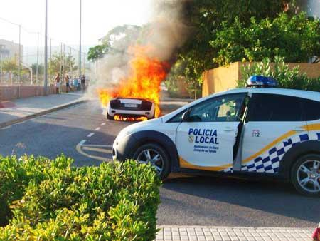 Foto de Audi R8 robado y quemado (1/11)