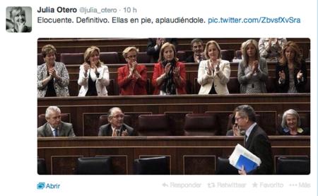 Cazadores de fakes: la foto de las diputadas del PP aplaudiendo a Gallardón