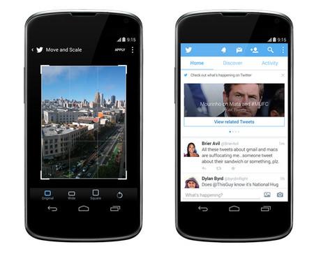 Twitter para Android se actualiza con mejoras en la edición de fotos y recomendación de tuits